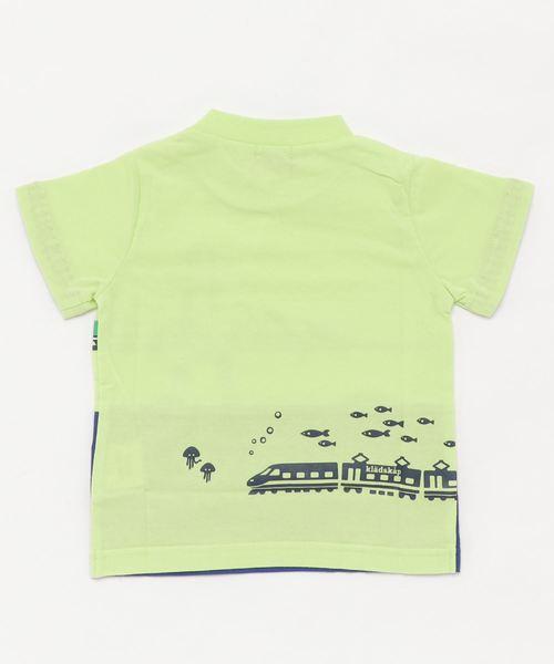 海と電車半袖Tシャツ