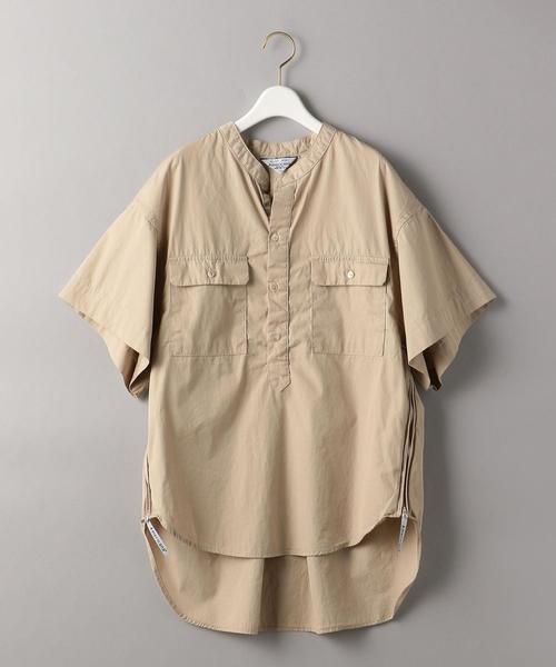 <Americana(アメリカーナ)>サイドジップショートスリーブシャツ