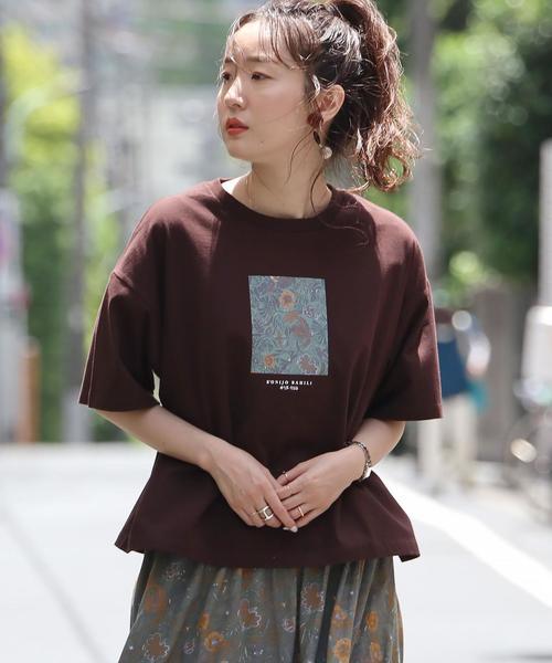 バティックプリントTシャツ