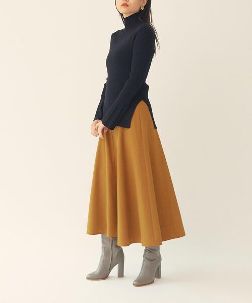 【EMMEL REFINES】【手洗可能】 HW マチツキ フレアスカート