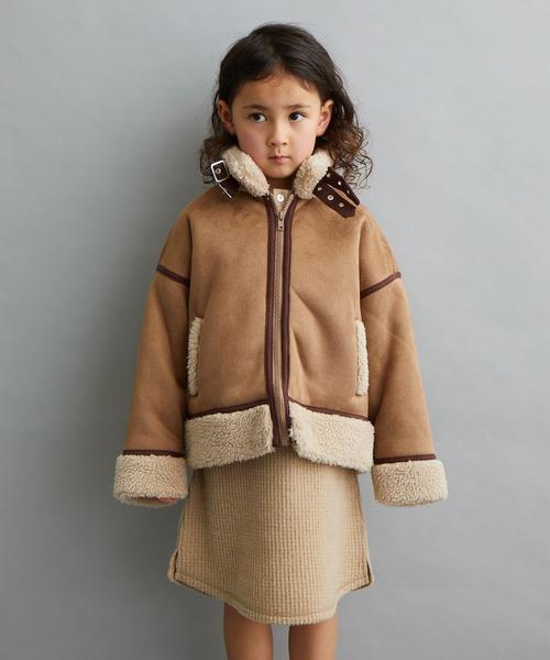 【&yam】あったかボア付き羽織フライトジャケット/パイピング