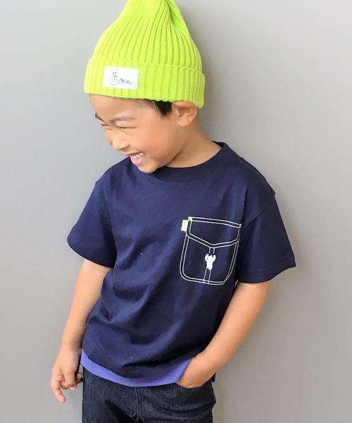 【coen キッズ / ジュニア】フェイクレイヤードTシャツ