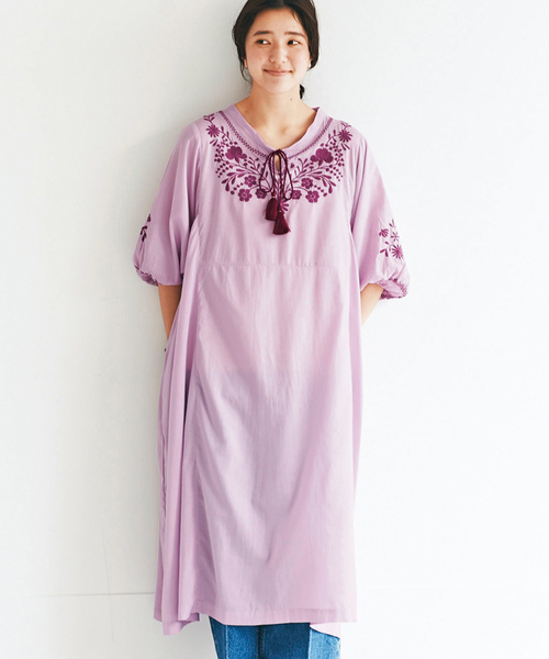 a01b67e713cc8 avecmoi(アヴェクモワ)の「 佐藤かなさんプロデュース avecmoi 刺しゅうドレス(
