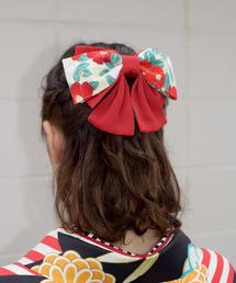 Tokyo135°(トウキョウヒャクサンジュウゴド)の「髪飾り リボン 袴 ハイカラさん ちりめん つまみ細工(和装小物)」