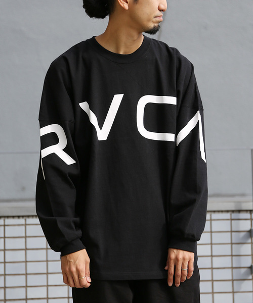 FREAK'S STORE(フリークスストア)の「WEB限定 RVCA/ルーカ FAKE RVCA ビッグシルエット ロンT(Tシャツ/カットソー)」|ブラック