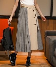 Andemiu(アンデミュウ)の【WEB限定】チェックドッキングスカート829350(スカート)
