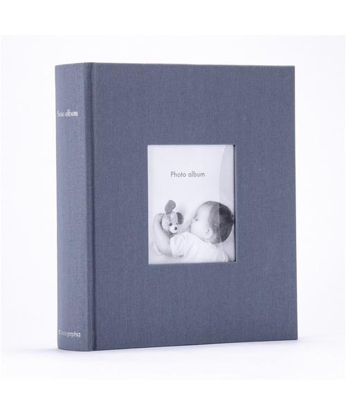 MARK'S(マークス)の「[ポストカードサイズ・200枚収納可] フォトフレームアルバム(カメラ/カメラグッズ)」 グレイッシュブルー