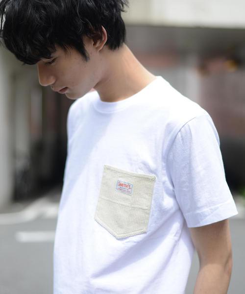 【女性にもオススメ】SMITH別注コーデュロイポケットTシャツ