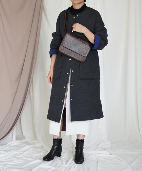【Eimee Law】バック配色カットボンディングコート