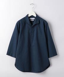 CSN STRC フレンチリネン スキッパー 7分袖 シャツ