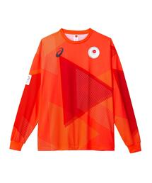 -東京2020オリンピック日本代表選手団公式応援グッズ・TEAM RED COLLECTION ロングスリーブTシャツ BU(JOCエンブレム)