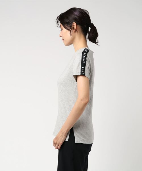 WEGO/天竺テープロゴベーシックTシャツ