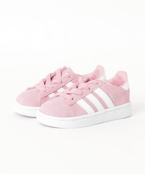 adidas / CAMPUS EL I ピンク 19(12~16.5㎝)