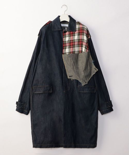 限定版 【セール】CUT OFF DENIMxCHECK COAT(その他アウター) DENIMxCHECK|FACETASM(ファセッタズム)のファッション通販, ZAKKA ZOO:ea5d489e --- munich-airport-memories.de