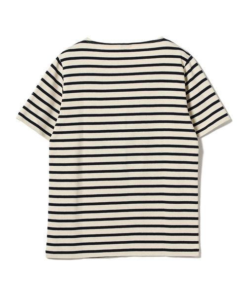 CHANTECLAIR × BEAMS LIGHTS / 別注 ボーダー 半袖バスクシャツ