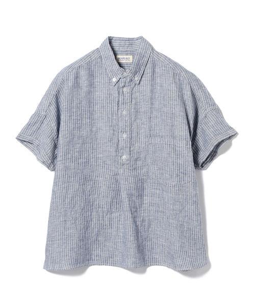BEAMS BOY / リネン B.D プルオーバー シャツ