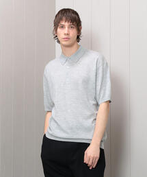 <H>CASHMERE POLO KNIT/ニット