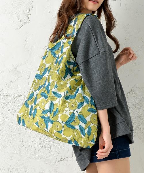 SMILE ORCHID(スマイルオーキッド)の「デザイナーズ  折りたたみエコバッグ 柄バッグ(エコバッグ/サブバッグ)」|レモンイエロー