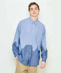<UNITED ARROWS & SONS> CHAMB DIPPED SHIRT/シャツ†