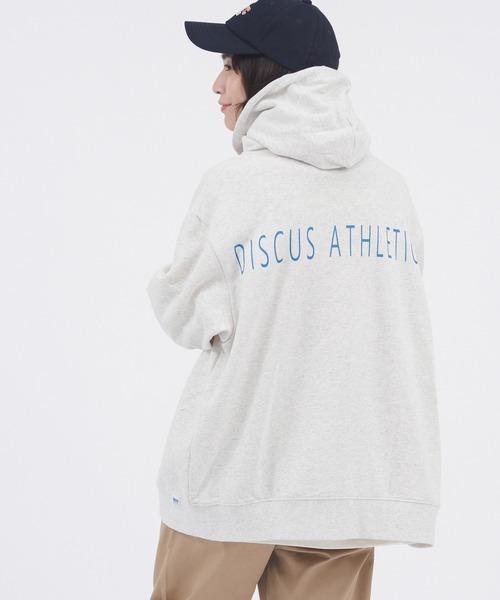 DISCUS ATHLETIC/ディスカス アスレチック USA裏毛バックプリントデザイン フルジップパーカー
