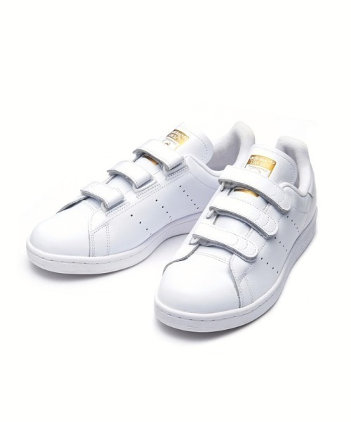 <<CM着用モデル>> adidas アディダス STAN SMITH CF スタンスミスCF S75188 16SP WTH/WTH/GOLDMT