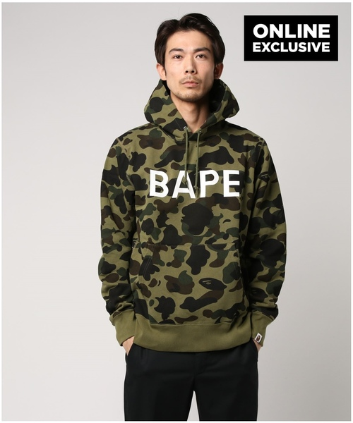 1ST CAMO BAPE PULL OVER HOODIE M