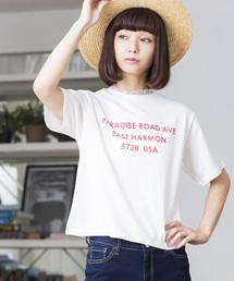 WEGO(ウィゴー)のWEGO/レースハイネックレイヤードロゴTシャツ(Tシャツ/カットソー)