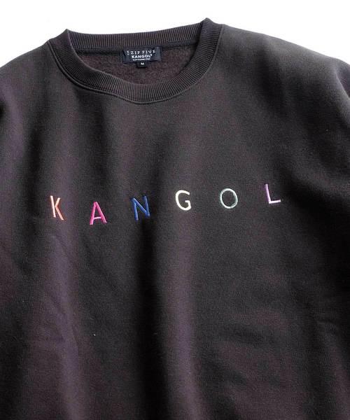 【別注・コラボ】ZIP FIVE × KANGOL カラフル刺繍ヘヴィーウェイトビッグスウェット