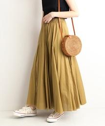 SLOBE IENA(スローブイエナ)のコットンボイルロングスカート◆(スカート)
