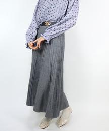 Clice de Paris(クリシェドゥパリス)のK/模様編みニットスカート(スカート)