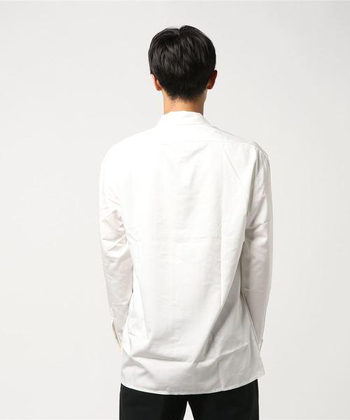 TRツイル刺繍入りオープンカラーシャツ [ オーバーサイズ ]