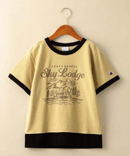 【ジュニア】〔別注〕CHAMPION(チャンピオン)リンガーTシャツ