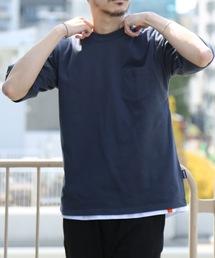 肉厚でヘタらないヘビロテ確実Tシャツ ボックスシルエット ユニセックスサイジング ポケット付き ヘビーウェイト5分袖Tシャツカットソーチャコールグレー