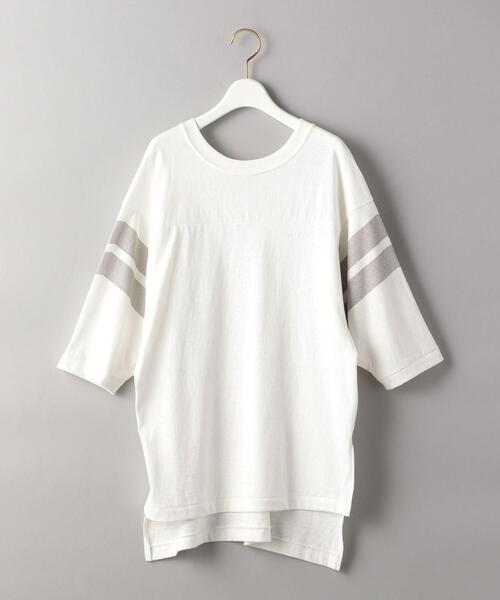 【別注】<Americana(アメリカーナ)>バックVネックフットボールTシャツ