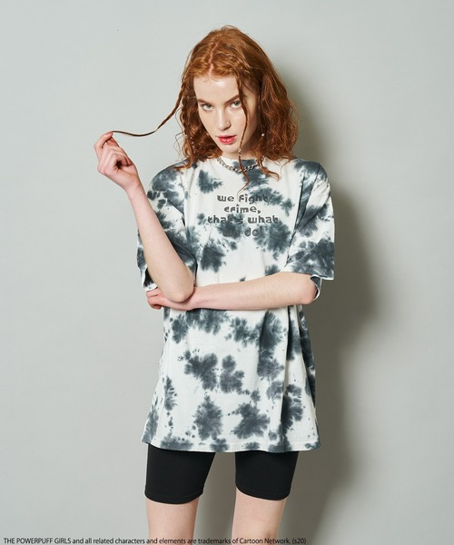 【THE POWERPUFF GIRS/パワーパフ ガールズ】タイダイ染めTシャツ