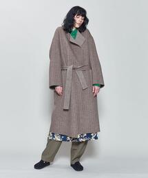 <6(ROKU)>REVERSIBLE SEWING NO COLLAR COAT/コート