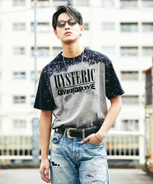 OVER DRIVE プリント ブリーチ加工Tシャツ