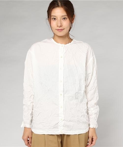 ワッシャープリーツシャツ