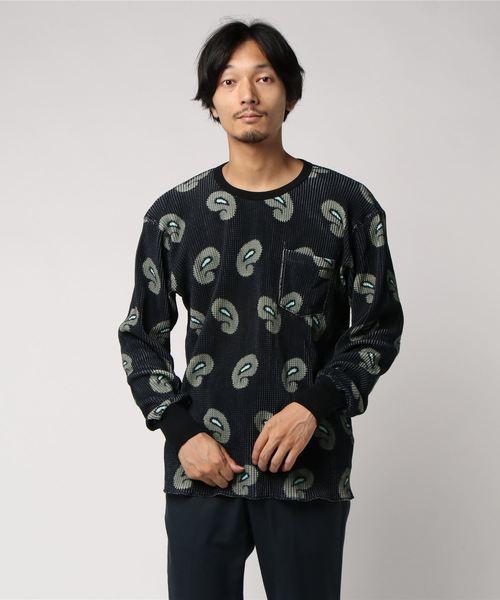 NOMA T.D. ノ−マ・ティー・ディー PAISLEY THERMAL TEE ペイズリー柄 サーマル 長袖Tシャツ