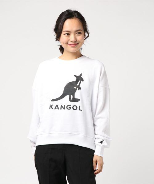 【KANGOL】裏毛フロントプリントプルオーバー