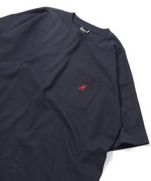 FREAK'S STORE(フリークスストア)のWEB限定 KANGOL×FREAK'S STORE/カンゴール 別注ビッグシルエット ワンポイント ヘビーウェイト半袖ポケットTシャツ/オーバーサイズカットソー/ポケTee(Tシャツ/カットソー)