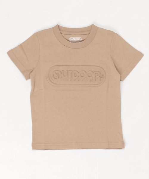 KIDSエンボスロゴTシャツ  キッズ 同色ブランドロゴプリント