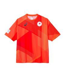 -東京2020オリンピック日本代表選手団公式応援グッズ・TEAM RED COLLECTION Tシャツ BU(JOCエンブレム)