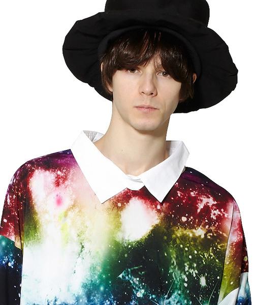 ギャラクシーシャツ襟Tシャツ -メガビッグ-