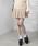 WEGO(ウィゴー)の「WEGO/プリーツミニスカート(スカート)」|ベージュ