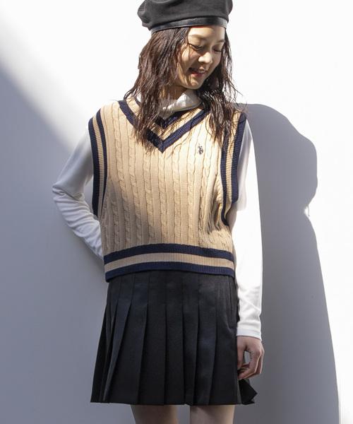 WEGO(ウィゴー)の「WEGO/プリーツミニスカート(スカート)」|ブラック
