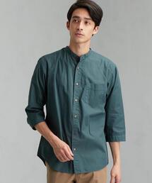 CM G/D ブロード バンドカラー 7分袖 シャツ