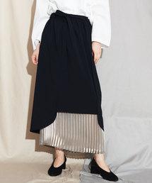 caph(カーフ)のPe杢調トロピカルサテンプリーツスカート(スカート)