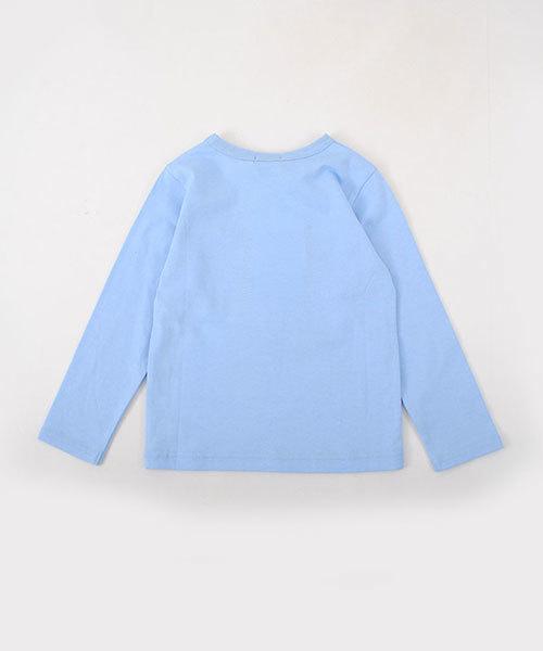 BeBe/天竺カメラプリントTシャツ