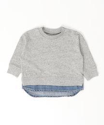 Ocean&Ground(オーシャン&グラウンド)のDENIM LAYERED T(80〜140cm)(Tシャツ/カットソー)